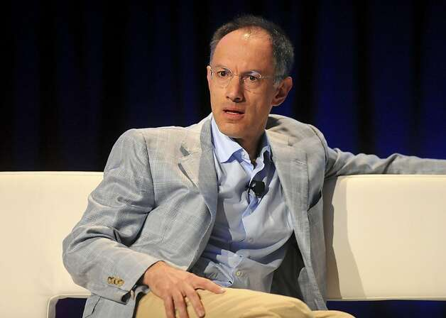 Michael Moritz, a partner with Sequoia Capital, listens during the TechCrunch Disrupt conference in San Francisco, California, U.S., on Tuesday, Sept. 28, 2010. The conference runs until Sept. 29. Photographer: Noah Berger/Bloomberg *** Local Caption *** Michael Moritz  Ran on: 10-02-2010 Michael Moritz Ran on: 10-02-2010 Michael Moritz  Ran on: 01-19-2011 Michael Moritz, who has spent 25 years as a managing member of Sequoia Capital, has been appointed to LinkedIn's board.  Ran on: 06-12-2011 Michael Moritz, venture capitalist, talks about San Francisco's pension battle in Fortune magazine. Photo: Noah Berger, Bloomberg