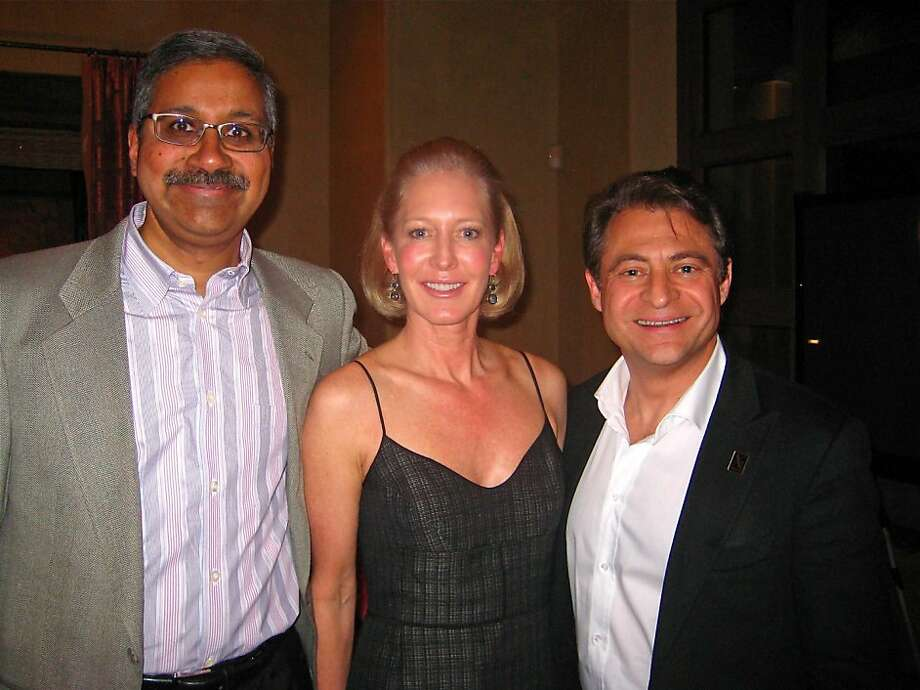 Sherpalo Ventures founder Ram Shriram (left) with Wendy Schmidt and X-Prize Chairman Peter Diamandis. Jan 2011. By Catherine Bigelow.     Ran on: 01-26-2011 Sherpalo Ventures founder Ram Shriram (left), Wendy Schmidt and X Prize Chairman Peter Diamandis. Photo: Catherine Bigelow, Special To The Chronicle