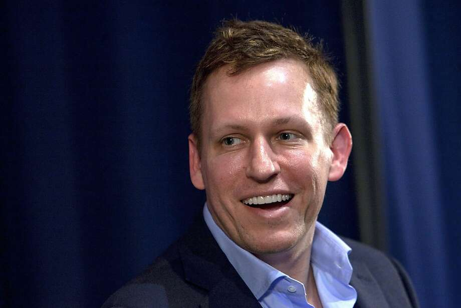 Peter Thiel, head of Clarium Capital Management LLC and founding investor in PayPal Inc. and Facebook Inc., speaks during an event at the Commonwealth Club in San Francisco, California, U.S., on Wednesday, Feb. 2, 2011. Thiel and Max Levchin, co-founder of PayPal Inc. and chief executive officer of Slide Inc., met in 1998 and over breakfast in Palo Alto, launched the company that became PayPal. Photographer: David Paul Morris/Bloomberg ***  Peter Thiel, head of Clarium Capital Management LLC and founding investor in PayPal Inc. and Facebook Inc., speaks during an event at the Commonwealth Club in San Francisco, California, U.S., on Wednesday, Feb. 2, 2011. Thiel and Max Levchin, co-founder of PayPal Inc. and chief executive officer of Slide Inc., met in 1998 and over breakfast in Palo Alto, launched the company that became PayPal. Photographer: David Paul Morris/Bloomberg *** Local Caption *** Peter Thiel  Ran on: 09-16-2011 Peter  Thiel   Ran on: 11-10-2011 Peter Thiel Photo: David Paul Morris, Bloomberg