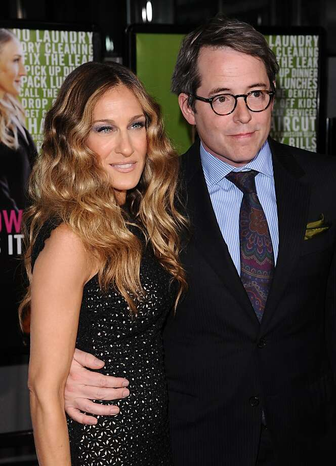 """Actors Sarah Jessica Parker and Matthew Broderick attend the Cinema Society premiere of """"I Don't Know How She Does It"""", in New York, on Monday, Sept. 12, 2011. (AP Photo/Peter Kramer) Photo: Peter Kramer, AP"""