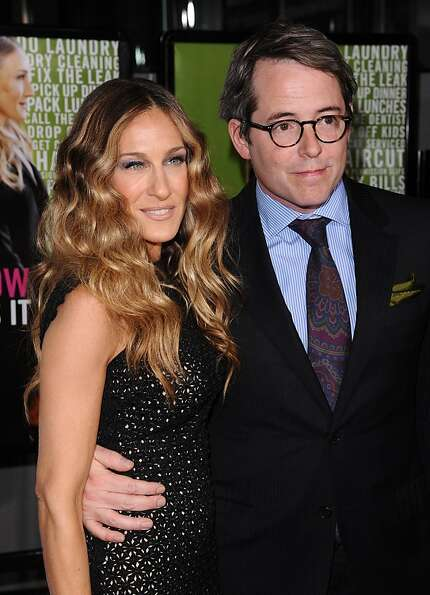 Actors Sarah Jessica Parker and Matthew Broderick attend the Cinema Society premiere of