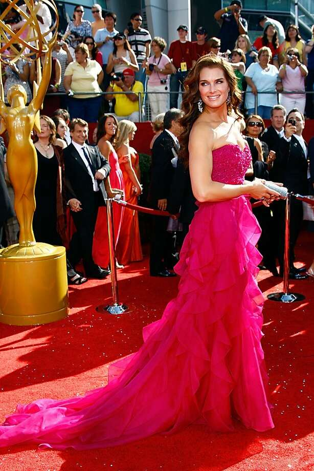LOS ANGELES, CA - SEPTEMBER 21:  Actress Brooke Shields arrives at the 60th Primetime Emmy Awards held at Nokia Theatre on September 21, 2008 in Los Angeles, California.  (Photo by Frazer Harrison/Getty Images) Photo: Frazer Harrison, Getty Images