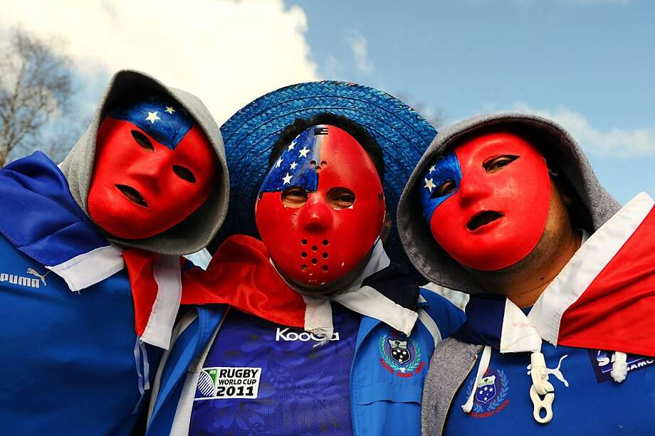 ROTORUA, NEW ZEALAND - SEPTEMBER 14:  Samoa fans enjoy the atmosphere prior to kickoff during the IRB 2011 Rugby World Cup Pool D match between Samoa and Namibia at Rotorua International Stadium on September 14, 2011 in Rotorua, New Zealand.  (Photo by Mike Hewitt/Getty Images) Photo: Mike Hewitt, Getty Images