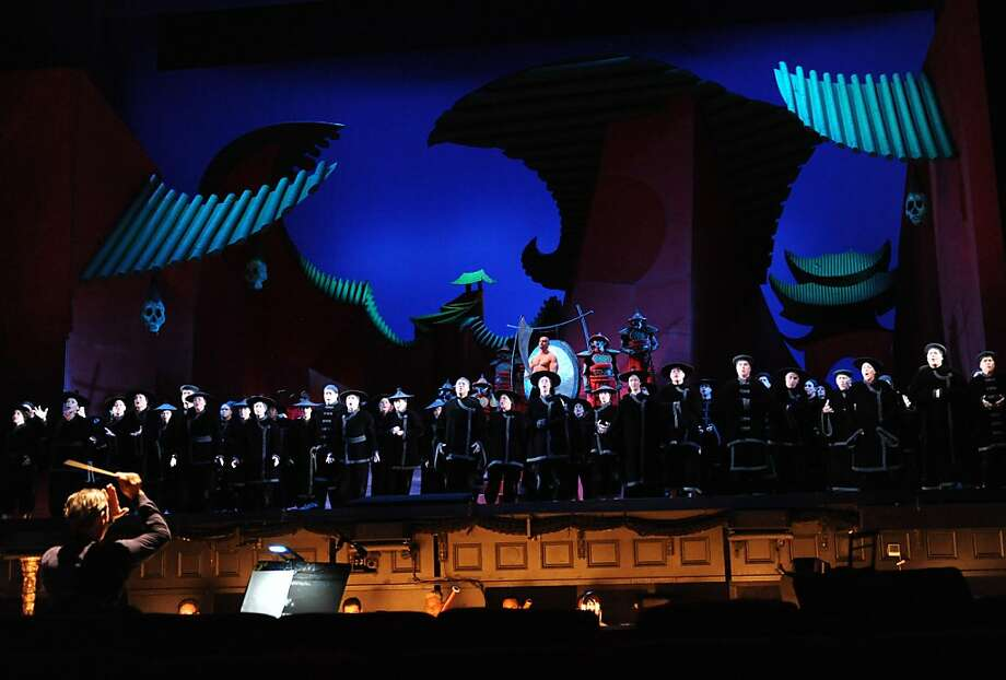 "People perform during the final dress rehearsal of Puccini's ""Turandot"" at the War Memorial Opera House in San Francisco on Tuesday, September 6, 2011. Photo: Susana Bates, Special To The Chronicle"