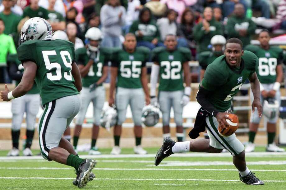 Who lost his head: Bralon Addison, Hightower. Who did the headhunting: Cy-Fair. Photo: Smiley N. Pool / © 2011  Houston Chronicle