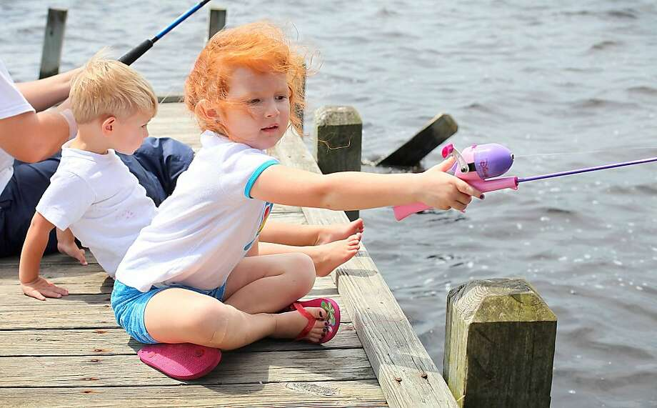 Saturday Adventure Series: Let's Go Fishing, 10 a.m.-11 a.m. May 17 at Shangri La Botanical Gardens and Nature Center, 2111 West Park Ave., Orange. Bring fishing poles, hooks and bobbers. Worms will be provided for this catch-and-release-only program for children age 8 and older. Children will learn fun fish facts, correct fishing techniques and how to properly hold a fish during a mini fishing trip to Shangri La's Pond of the Blue Moon. A personal flotation device will be provided. The program is included with general admission and requires reservations by calling (409) 670-9799. Admission is free for STARK Cultural Venues members. Adults $6, seniors 65 and older, student with ID and children 10-17 $5, children 4-9 $2, children 3 and younger free. (409) 670-9113 or www.shangrilagardens.org(AP Photo/The Daily News, John Althouse) Photo: John Althouse, The Daily News