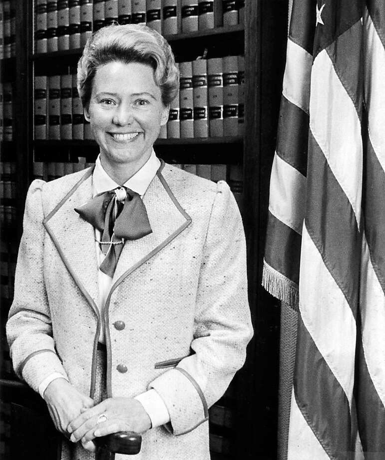Judge Pamela Ann Rymer, in a 1986 file photo, who filled the seat vacated by Judge Anthony Kennedy on the U.S. Court of Appeals for the 9th Circuit in 1989 after he was named to the U.S. Supreme Court and who was highly respected for her sharp legal mind, productivity and dedication, has died. She was 70. (Los Angeles Times/MCT) Photo: Los Angeles Times, MCT