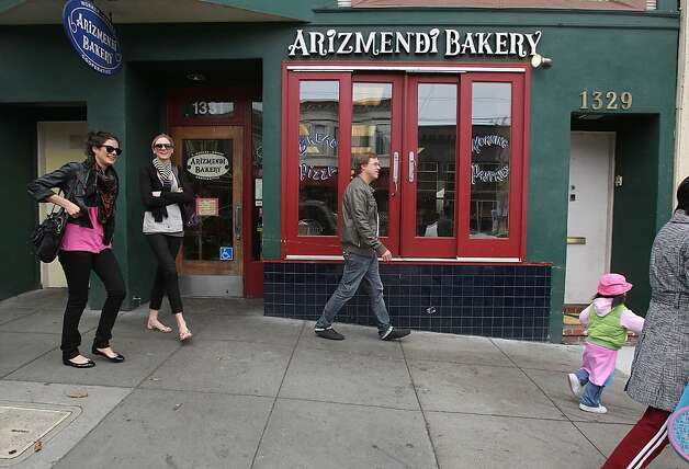 Arizmendi, having a selection of pastries and pizza in San Francisco, Calif., on Monday, May 31, 2010. Photo: Liz Hafalia, The Chronicle