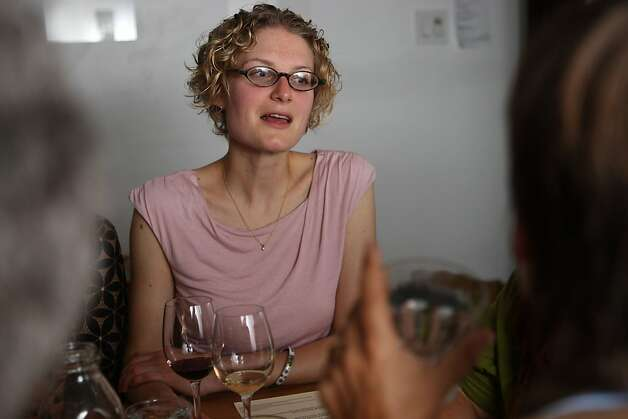Bi-Ritecheese buyer Anthea Stolz answering member questions during the producer dinner featuring Cowgirl Creamery cheeses at 18 Reasons in San Francisco, Calif., on Friday, August 19, 2011. Photo: Liz Hafalia, The Chronicle
