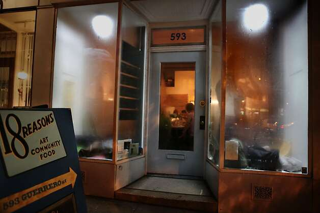 Front windows were steaming up during the producer dinner featuring Cowgirl Creamery  cheeses at 18 Reasons in San Francisco, Calif., on Friday, August 19, 2011. Photo: Liz Hafalia, The Chronicle