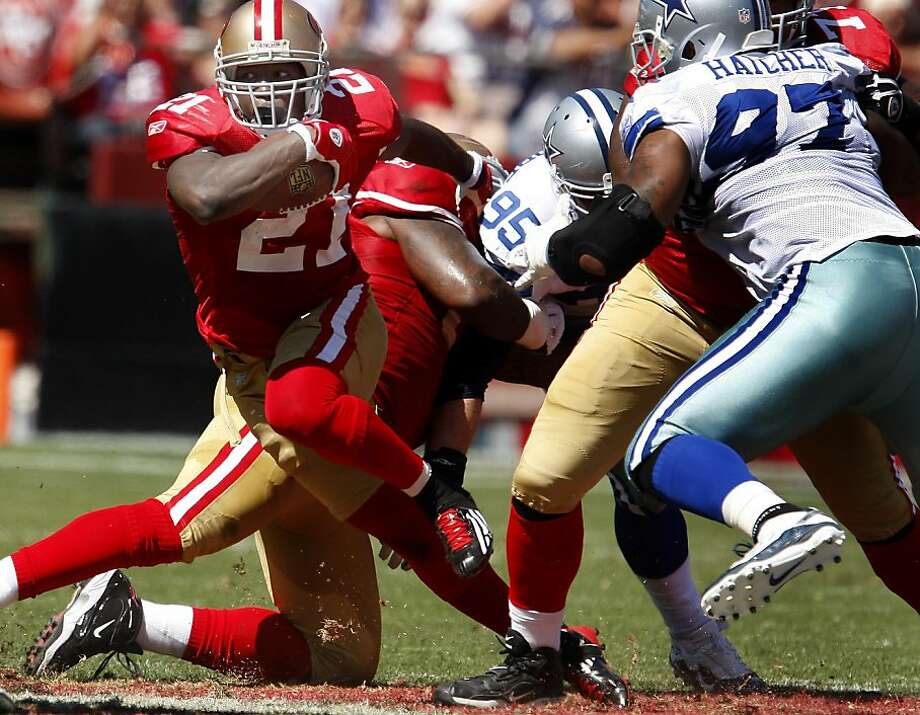 b64add5afbe Frank Gore gets off a nice run in the first half. San Francisco 49ers lose