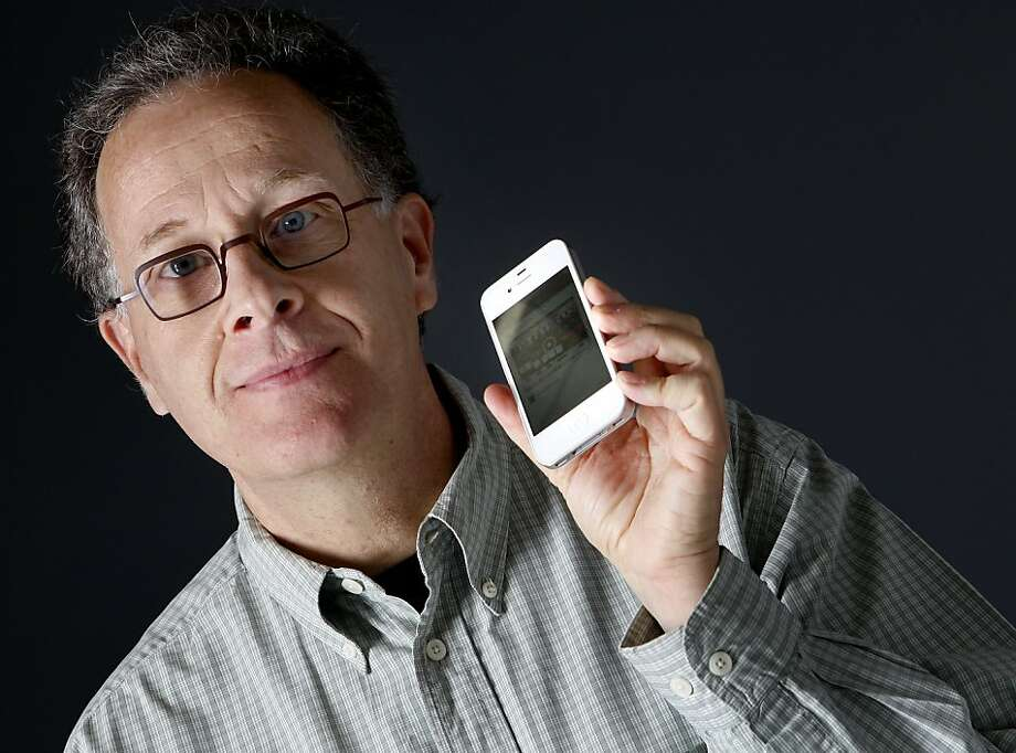 Alain Rossmann has always had a keen eye for the future of technology.  His newest endeavor is a clever application for playing video on smart phones. Photo: Brant Ward, The Chronicle