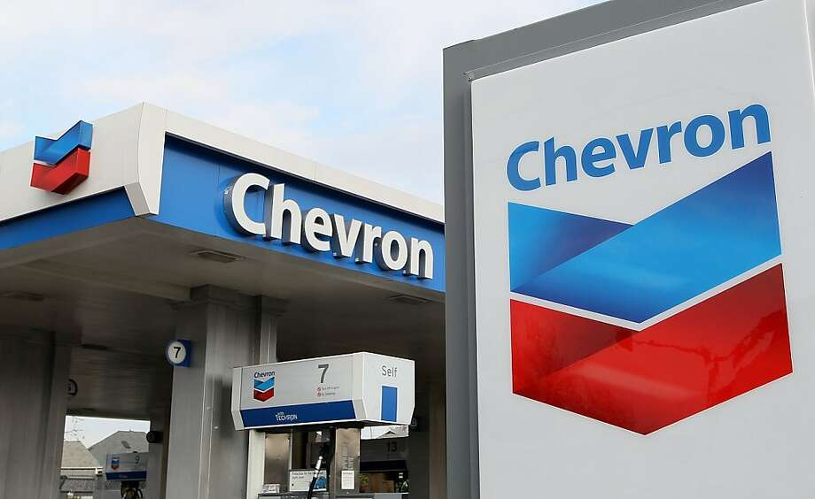 ALAMEDA, CA - JANUARY 29: The Chevron logo is displayed at a Chevron gas station January 29, 2010 in Alameda, California. Chevron reported a 37 percent decline in fourth quarter profits with earnings of $3.07 billion, or $1.53 a share compared to $4.9 billion, or $2.44 a share, a year ago. (Photo by Justin Sullivan/Getty Images) Ran on: 01-30-2010 Photo caption Dummy text goes here. Dummy text goes here. Dummy text goes here. Dummy text goes here. Dummy text goes here. Dummy text goes here. Dummy text goes here. Dummy text goes here.<137,1970-12-18-17-21-52,><252>###Photo: chevron30_PH2<252>1264636800<252>Getty Images North America<252>###Live Caption:ALAMEDA, CA - JANUARY 29: The Chevron logo is displayed at a Chevron gas station January 29, 2010 in Alameda, California. Chevron reported a 37 percent decline in fourth quarter profits with earnings of $3.07 billion, or $1.53 a share compared to $4.9 billion, or $2.44 a share, a year ago.###Caption History:ALAMEDA, CA - JANUARY 29: The Chevron logo is displayed at a Chevron gas station January 29, 2010 in Alameda, California. Chevron reported a 37 percent decline in fourth quarter profits with earnings of $3.07 billion, or $1.53 a share compared to $4.9 billion, or $2.44 a share, a year ago. (Photo by Justin Sullivan-Getty Images)###Notes:Chevron's Quarterly Profits Slide 37 Percent###Special Instructions:<137><252> Ran on: 04-04-2010 Photo caption Dummy text goes here. Dummy text goes here. Dummy text goes here. Dummy text goes here. Dummy text goes here. Dummy text goes here. Dummy text goes here. Dummy text goes here.<137,1970-12-18-17-21-52,><252>###Photo: BB_Brief04_PH1<252>1264636800<252>Getty Images North America<252>###Live Caption:ALAMEDA,... Photo: Justin Sullivan, Getty Images