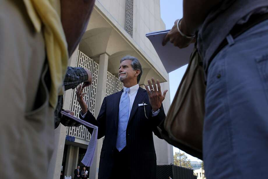Attorneys Frank Pitre, who is representing the plaintiffs in the  San Bruno lawsuit against PG&E speak to the media outside the Redwood County Courthouse, Thursday September 22, 2011, in Redwood City, Calif. The judge in the case has set a trial date in July of next year. Photo: Lacy Atkins, The Chronicle
