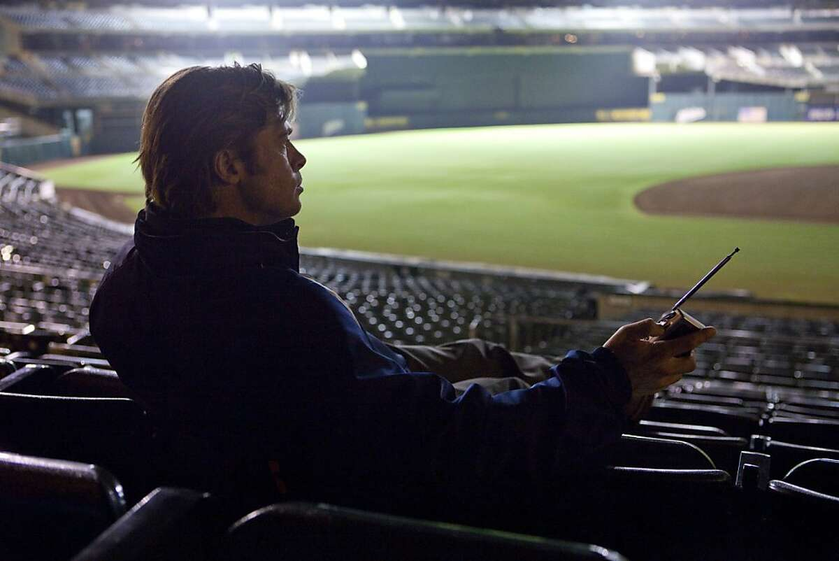"""Brad Pitt stars in Columbia Pictures' drama """"Moneyball."""" Ran on: 09-23-2011 Brad Pitt stars as As General Manager Billy Beane in Moneyball, a story about the teams different approach to choosing players."""