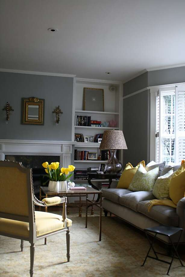 grey and chartreuse living room fall paint color trends sfgate 18628
