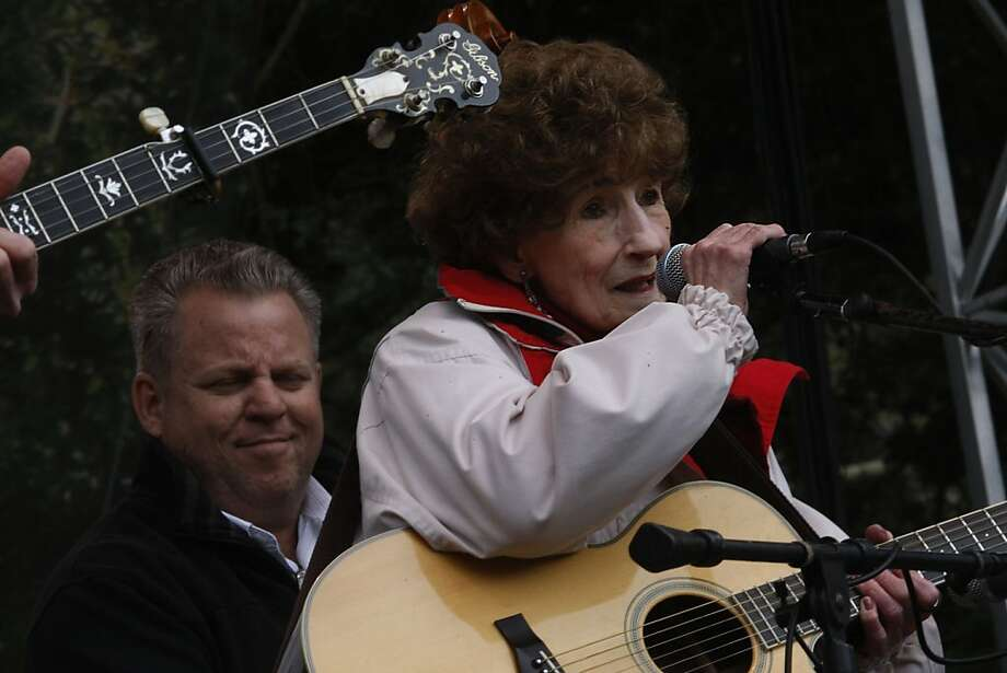 Hazel Dickens at the 10th anniversary of the Hardly Strictly Bluegrass festival on the Speedway in Golden Gate Park in San Francisco, Calif.,  on Sunday, October 3, 2010. Photo: Liz Hafalia, The Chronicle
