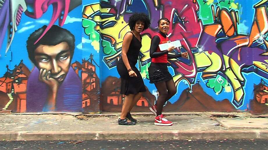 Afro-French duo Les Nubians outside of Paris in THE FURIOUS FORCE OF RHYMES, a documentary by San Francisco native Joshua Atesh Litle that closes the 2011 Oakland Underground Film Festival. Photo: Oakland Underground FF
