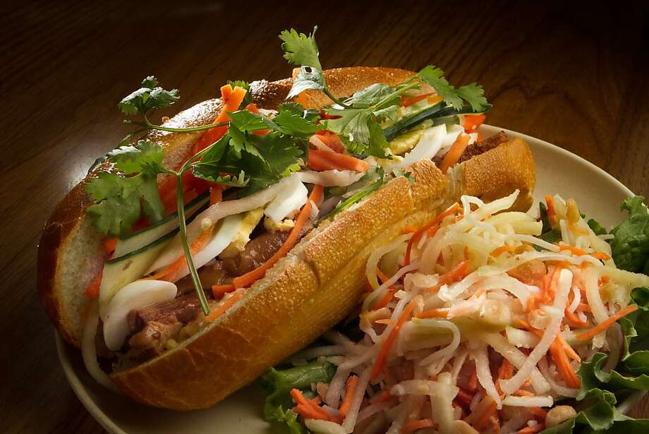 The Belly Bun and Papaya Salad at Bun Mee restaurant in San Francisco, Calif., is seen on September 15th, 2011. Photo: John Storey, Special To The Chronicle