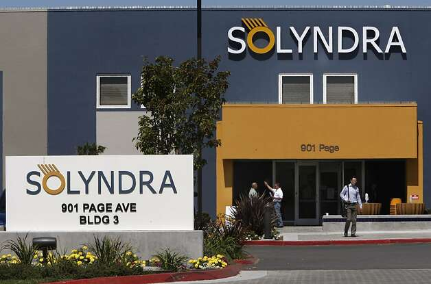 People coming and going from building number three. Solar-cell company Solyndra announced today that they were filing for bankruptcy and laying off all 1,100 of their workforce effective immediately.   Ran on: 09-01-2011 Workers leave Fremont's Solyndra solar-cell plant after officials announced the company is closing. Ran on: 09-01-2011 Workers leave Fremont's Solyndra solar-cell plant after officials announced the company is closing. Ran on: 10-07-2011 Solyndra is a high-profile example of a failed solar company that critics of the loan program are using as ammunition. Photo: Michael Macor, The Chronicle