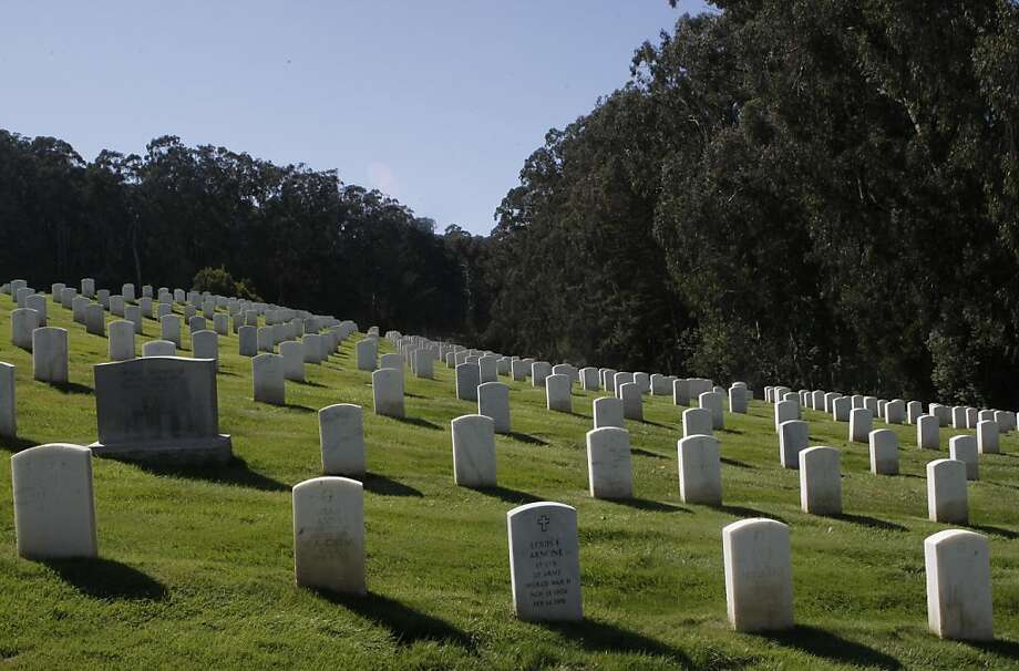 A view of the the San Francisco National Cemetery in the Presidio, in San Francisco, Calif., on Friday, Sept. 23, 2011. Photo: Dylan Entelis, The Chronicle