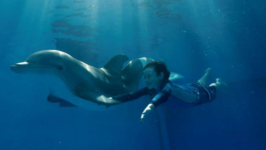 WINTER and NATHAN GAMBLE as Sawyer Nelson in Alcon EntertainmentÕs family adventure ÒDOLPHIN TALE,Ó a Warner Bros. Pictures release. Photo: Courtesy Of Warner Bros. Picture