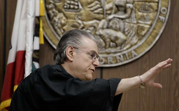 "Alameda County Superior Court Judge Gary Picetti gestures in court Thursday, Sept. 8, 2011, at the Hayward Hall of Justice in Hayward, Calif. Giselle Esteban is accused of killing her former high school friend Michelle Le, 26, whose body has not been found. Esteban, 27, who is pregnant, was scheduled to appear at the Hayward Hayward Hall of Justice this afternoon but had a medical issue believed to be ""somehow related to her pregnancy,"" said Judge Gary Picetti of Alameda County Superior Court. If she is cleared by doctors she will appear in court Friday, the judge said. (AP Photo/Ben Margot) Photo: Ben Margot, AP"
