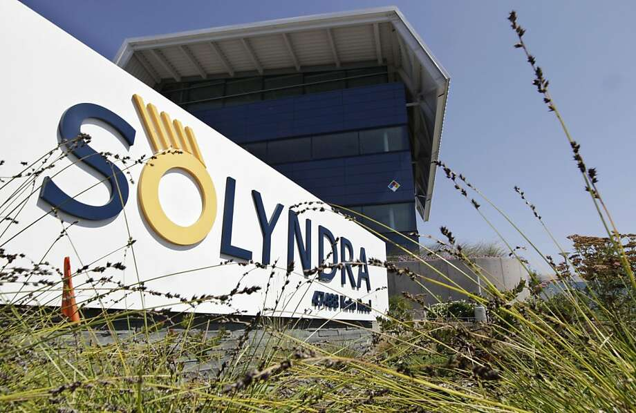 The Exterior of bankrupt Solyndra is seen in Fremont, Calif., Friday, Sept. 16, 2011. The Obama administration was worried about the financial health of Solyndra, a troubled solar energy company, and the political fallout it could bring even as officials publicly declared the company in good shape, newly released emails show. An email from a White House budget official to a co-worker discussed the likely effect of a default by Solyndra Inc. on Obama's re-election campaign. Solyndra is also under investigation by the FBI.  (AP Photo/Paul Sakuma) Photo: Paul Sakuma, AP