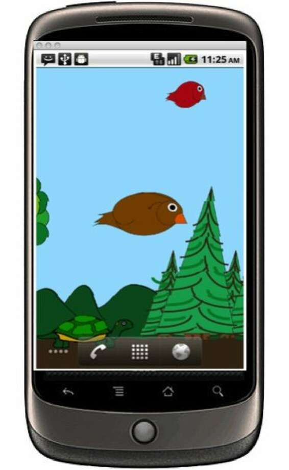Stanford researchers are developing a series of health-related smart phone apps designed to get the people to be more active.  This app is loosely based on the Angry Birds game. Photo: Stanford School Of Medicine