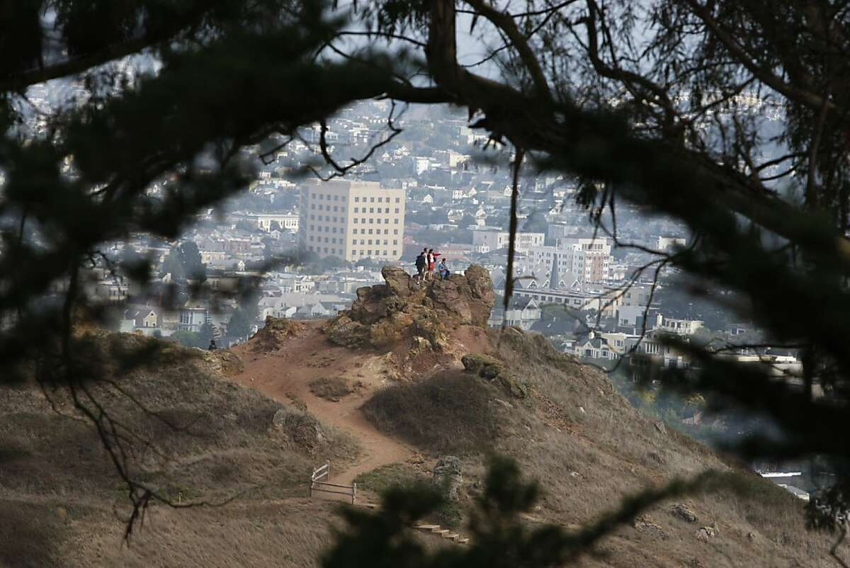 A view from Buena Vista Park towards (hilltop name) in San Francisco, Calif. on Saturday, Sept. 10, 2011.
