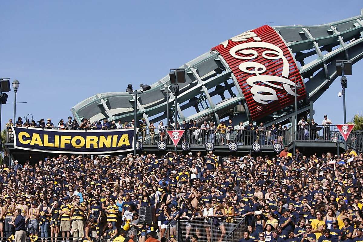 A view of the crowd during the University of California Golden Bears game against the Presbyterian Blue Hose, at AT&T Park in San Francisco, Calif., Saturday, Sept. 17, 2011.