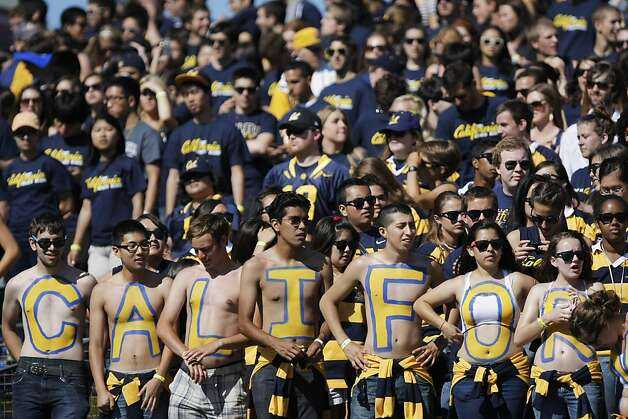 Fans of the University of California Golden Bears watch their game against the Presbyterian Blue Hose, at AT&T Park in San Francisco, Calif., Saturday, Sept. 17, 2011. Photo: Dylan Entelis, The Chronicle