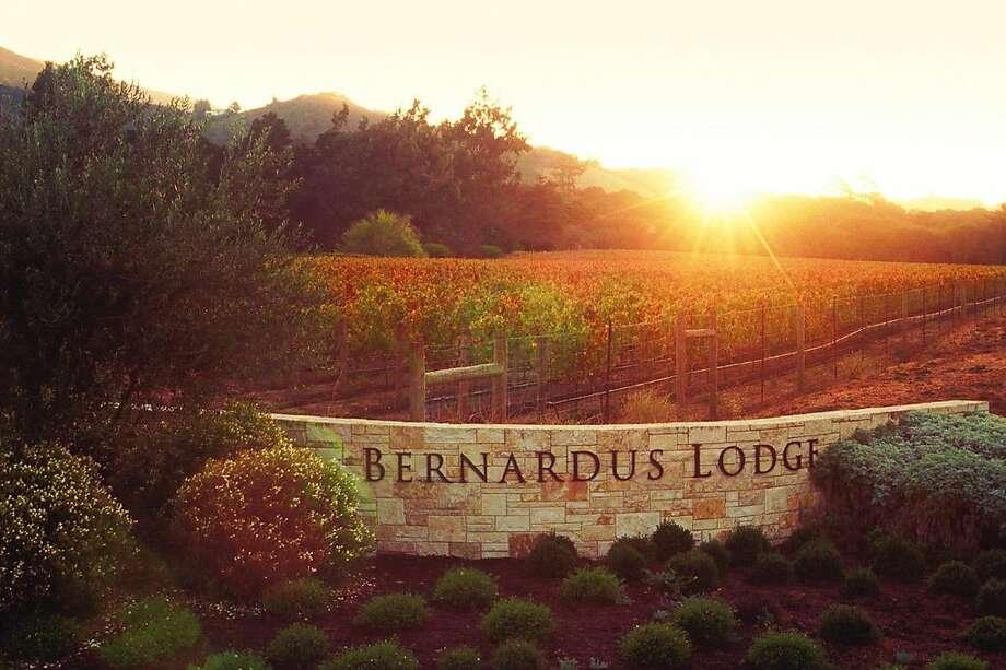 The entrance at Bernardus Lodge. Monterey Ca Photo: Courtesy Of Bernardus Lodge