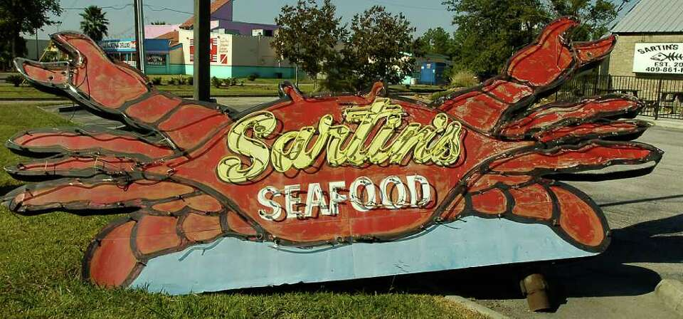The old sign from the Sabine Pass location.  This week's restaurant of the week is Sartin's West loc