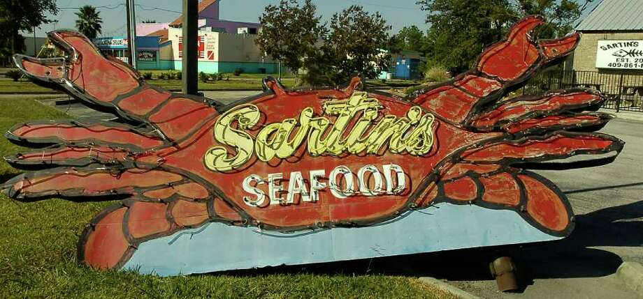 The old sign from the Sabine Pass location.  This week's restaurant of the week is Sartin's West located at 1990 Interstate 10 South.    Dave Ryan/The Enterprise Photo: Dave Ryan