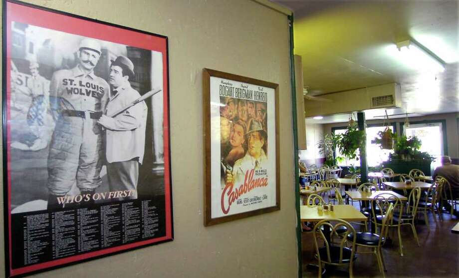 The dining room is decorated with movie posters and other paraphernalia.   Goodfella's Pizza in Sour Lake is our restaurant of the week for Oct. 6, 2011.   It is located at 785 Highway 105 West.  Dave Ryan/The Enterprise Photo: Dave Ryan