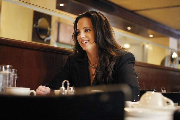 Mayoral candidate Michela Alioto-Pier sits for coffee at Il Fornaio in San Francisco, Calif. on Wednesday, Sept. 7, 2011. Photo: Dylan Entelis, The Chronicle