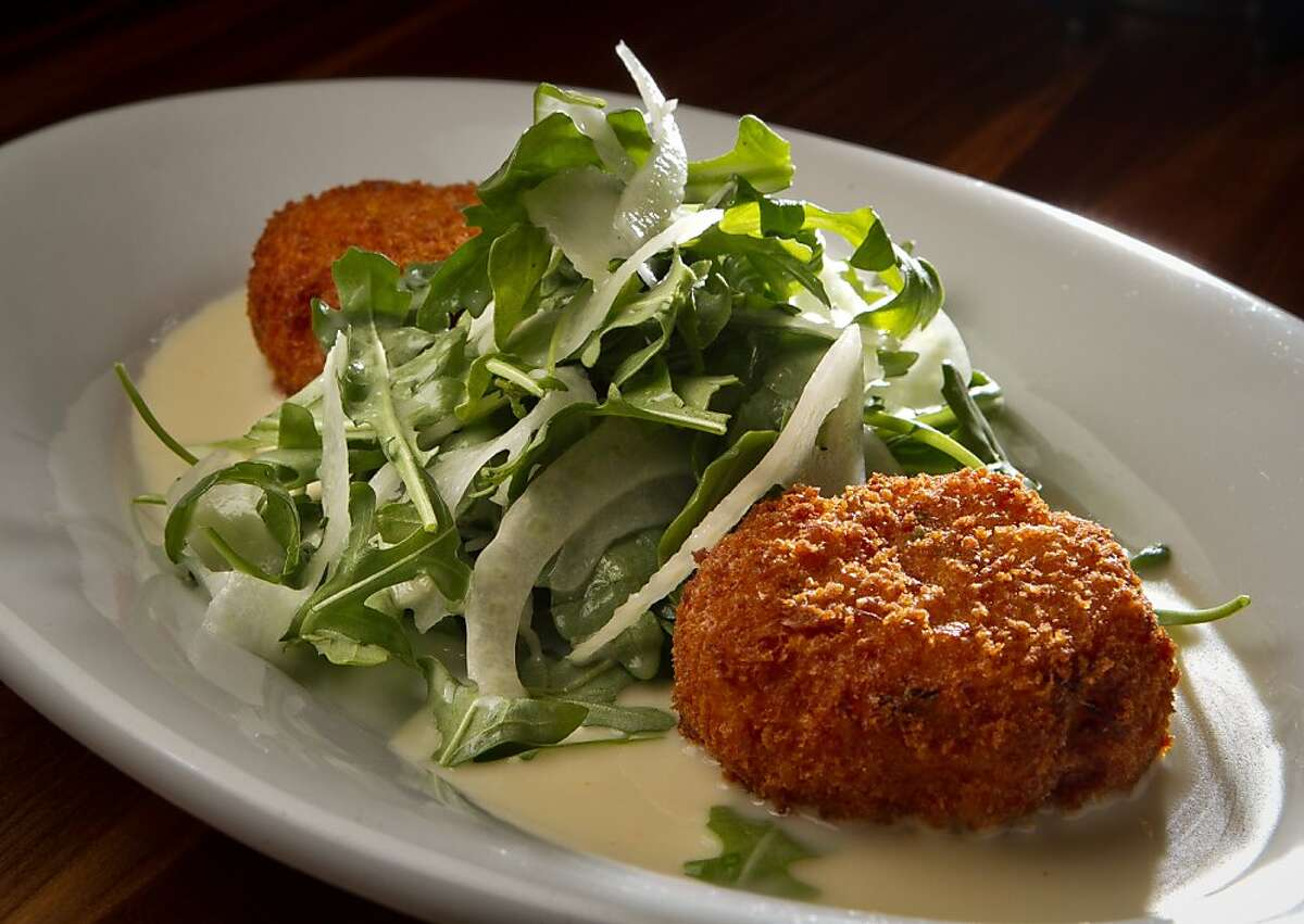 The Crab Cakes at the Southern Pacific Smokehouse in Novato, Calif., is seen on November 15th, 2011.