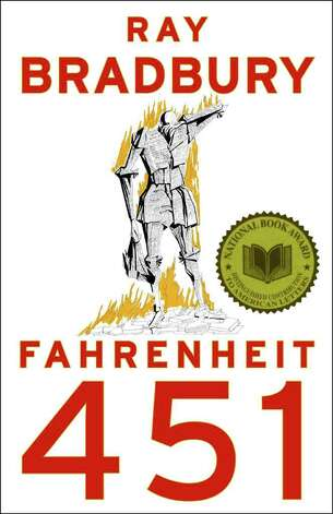 "In this image released by Simon & Schuster, the cover of ""Fahrenheit 451,"" by Ray Bradbury, is shown. (AP Photo/Simon & Schuster) / Simon & Schuster"