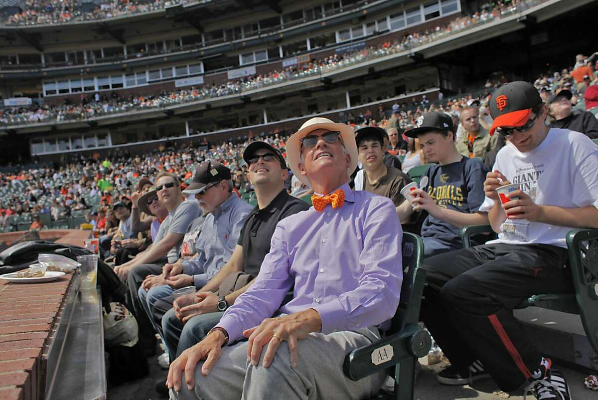 Giants owner Bill Neukom watches the ball as the Giants play the Athletics in the last exhibition game, Wed. March 30, 2011, at AT&T Park, in San Francisco, Calif. Ran on: 04-10-2011 Bill Neukom watches the ball as the Giants play the As in their March 30 exhibition game at AT&T Park. Ran on: 04-10-2011 Bill Neukom watches the ball as the Giants play the As in their March 30 exhibition game at AT&T Park.