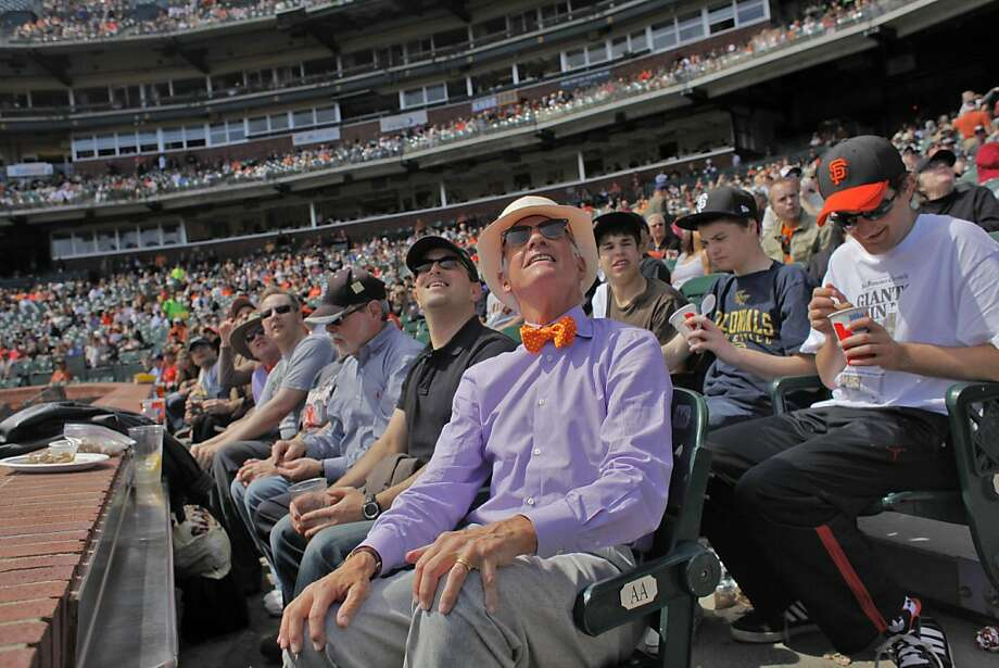 Giants owner  Bill Neukom watches the ball as the Giants play the Athletics in the last  exhibition game, Wed. March 30, 2011, at AT&T Park, in San Francisco, Calif.   Ran on: 04-10-2011 Bill Neukom watches the ball as the Giants play the A's in their March 30 exhibition game at AT&T Park. Ran on: 04-10-2011 Bill Neukom watches the ball as the Giants play the A's in their March 30 exhibition game at AT&T Park. Photo: Lacy Atkins, The Chronicle