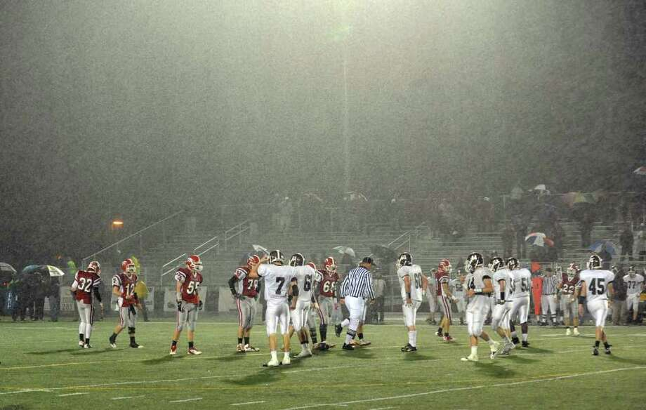 Highlights from Class L state football playoff action between Masuk and North Haven in Trumbull, Conn. on Tuesday November 29, 2011. Photo: Christian Abraham / Connecticut Post