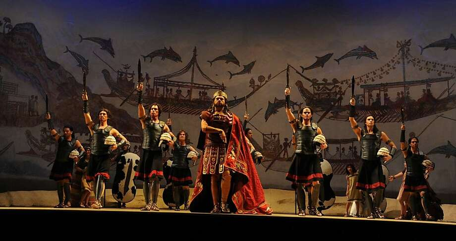 "Christopher Bengochea in the title role of Mozart's ""Idomeneo"" at Opera San Jose Photo: P. Kirk"
