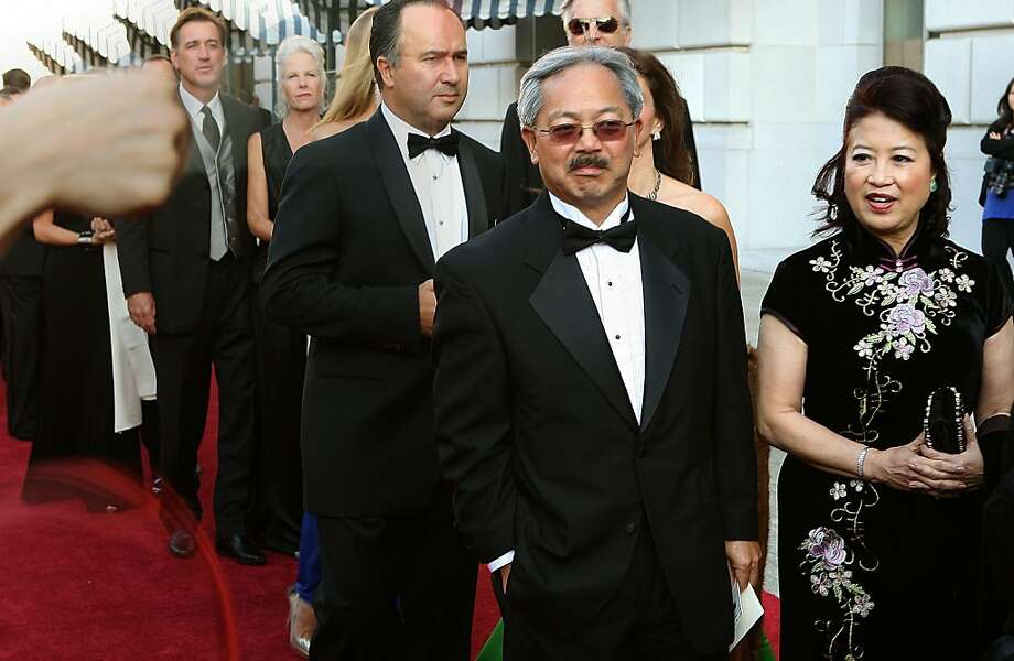 Mayor Ed Lee and his wife Anita arrive at  the San Francisco Opera opening night gala dinner in San Francisco, Calif., on Friday, September 9, 2011. Photo: Liz Hafalia, The Chronicle