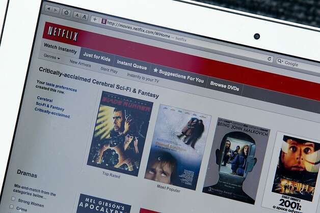 Netflix Inc.'s streaming service is displayed on a computer monitor in New York, U.S., on Thursday, Sept. 15, 2011. Netflix Inc., the mail-order and online film-rental service, fell the most in almost three years after cutting its forecast for U.S. subscribers in the third quarter. Photographer: Jin Lee/Bloomberg Photo: Jin Lee, Bloomberg