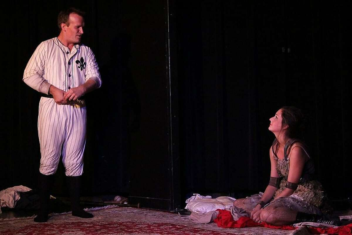 James Kennedy (left) and Ariana Venturi in Jonathan A. Goldberg's