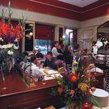 The dining room of Bouchon in Yountville.