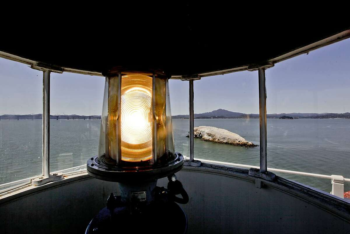 In this file photo, we see the top of the Lighthouse, looking West towards Mt. Tamalpais. The East Brother Island Lighthouse in San Pablo, Calif. on Wednesday August 18, 2010, is also a boutique 5-bedroom inn.