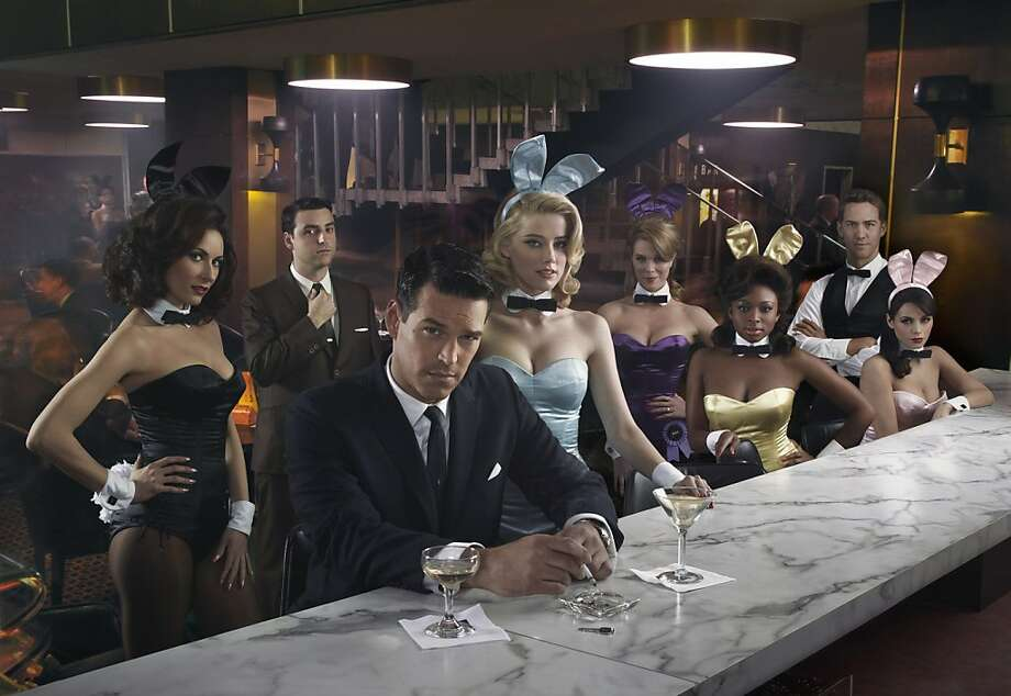 THE PLAYBOY CLUB -- Season: Pilot -- Pictured: (l-r) Laura Benanti as Carol-Lynne, David Krumholtz as Billy, Eddie Cibrian as Nick, Amber Heard as Maureen, Leah Renee as Alice, Naturi Naughton as Brenda, Wes Ramsey as Max Photo: John Russo, NBC