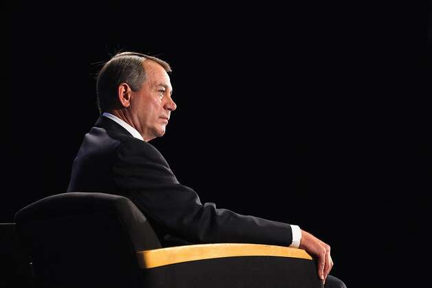 "WASHINGTON, DC - SEPTEMBER 15:  Speaker of the House Rep. John Boehner (R-OH) addresses the Economic Club of Washington, D.C.'s speaker series luncheon at the Ronald Reagan Building September 15, 2011 in Washington, DC. In the speech, titled ""Liberating America's Economy,"" Boehner discussed the GOP's Plan for America's Job Creators, which he said is focused on cutting Washington spending, ending regulations and reforming the tax code.  (Photo by Chip Somodevilla/Getty Images)  *** BESTPIX *** Photo: Chip Somodevilla, Getty Images"